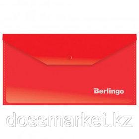 Папка-конверт с кнопкой Berlingo, С6, 180 мкм, красная