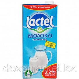 Молоко Lactel, 1 литр, 3,2%, тетрапакет