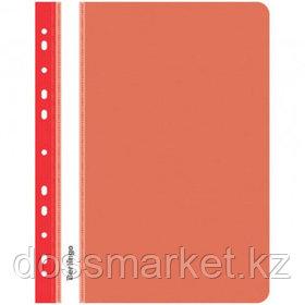 Папка-скоросшиватель Berlingo, А4 формат, 180 мкм, красная, с перфорацией