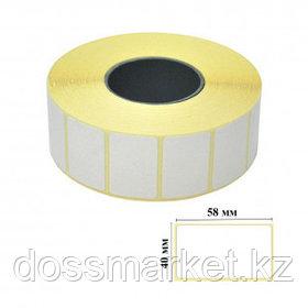 Термоэтикетки для термопринтера и весов, 58 мм*40 мм, втулка 40 мм, 600 этикеток в рулоне