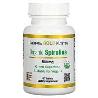 Органическая спирулина, California Gold Nutrition, 500 мг, 60 таблеток