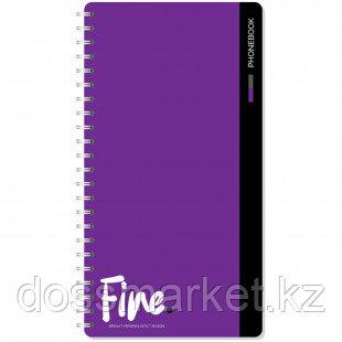 """Телефонная книга OfficeSpace """"Моноколор. Fine color"""", А5, 80 листов, на гребне"""