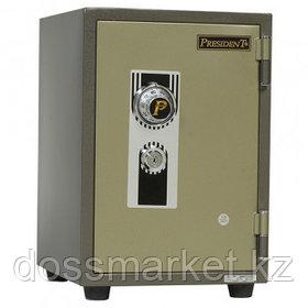Огнеупорный сейф President SS2, механический код + ключ, 344*427*512 мм