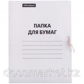 Папка с завязками OfficeSpace, А4 формат, немелованная, 220 г/м2