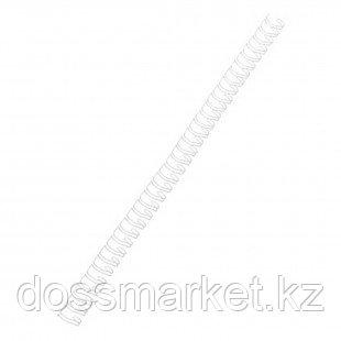 9,5 мм. Металлические белые пружины для переплета, для сшивания 65 листов, шаг 3:1, 100 шт/упак