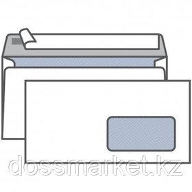 Конверт горизонтальный KurtStrip, формат Е65 (220*110 мм), белый, с окошком, отрывная лента