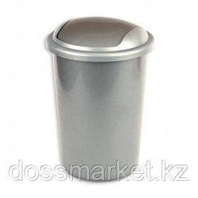 Ведро для мусора с крышкой-вертушкой Uniplast, 12 л, пластик, серое