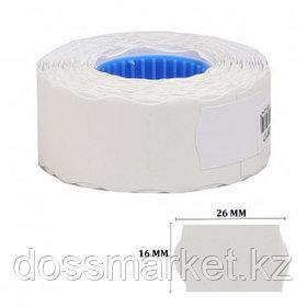 Этикет-ценник OfficeSpace, волнистые, 26 мм*16 мм, 800 шт. в рулоне, белый