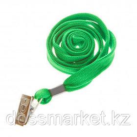 Шнурок для бейджа OfficeSpace, длина 45 см, металлический клип, зеленый