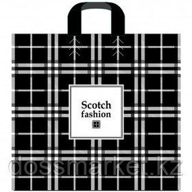 """Пакет с петлевой ручкой Артпласт """"Scotch fashion"""", 40*40 см, черный, 25 шт"""
