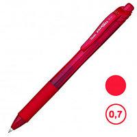Ручка гелевая автоматическая Pentel EnerGel-X, 0,7 мм, красная, цена за штуку