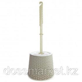 Ершик для туалета Svip Nature, ротанг, пластик, айвори