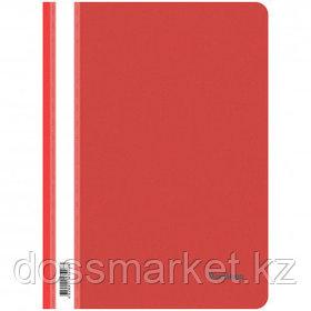 Папка-скоросшиватель Berlingo, А4 формат, 180 мкм, красная, с прозрачным верхом