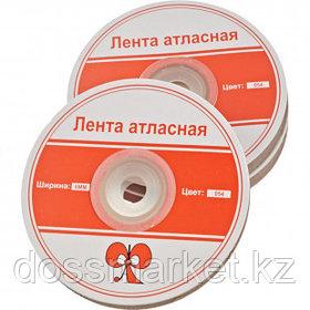 Лента атласная для прошивки документов, красная, 100 м, ширина 6 мм, 3 шт/упак