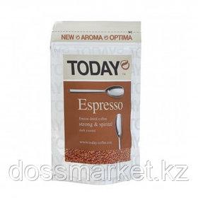 """Кофе растворимый Today """"Espresso"""", 150 гр, вакуумная упаковка"""