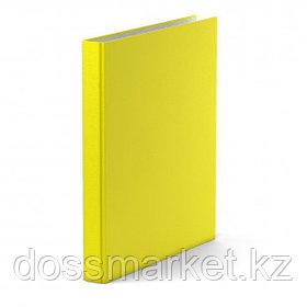 "Папка Erich Krause ""Neon"", А4 формат, на 4 кольцах, корешок 35 мм, желтая"