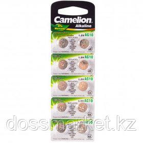 Батарейки Camelion Alkaline AG10-BP10, 1,5 V, 10 шт./упак, цена за упаковку