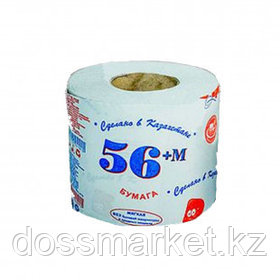 """Туалетная бумага рулонная Маолин """"56+М"""", 40 метров, 1-слойная"""