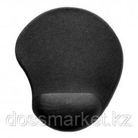 Коврик для мыши Defender EasyWork, черный, гелевая подушка, покрытие тканевое