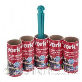 Ролик-щетка York для одежды + 4 запаса, 20 листов в рулоне
