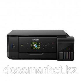 МФУ струйное цветное Epson L7160, А4, 5760*1440, 32 стр/мин, без кабеля USB, без АПД, Wi-Fi