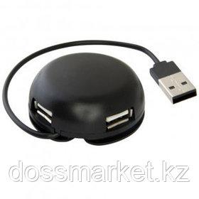 Расширитель USB, Defender Quadro Light, 4 порта, USB 2.0, черный