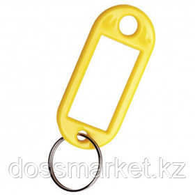 Брелок для ключей, пластик, 10 шт., желтый