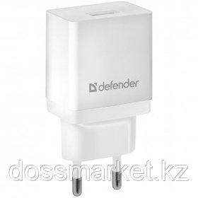 Универсальное USB зарядное устройство Defender EPA-10, 1*USB, 2.1 A, белый