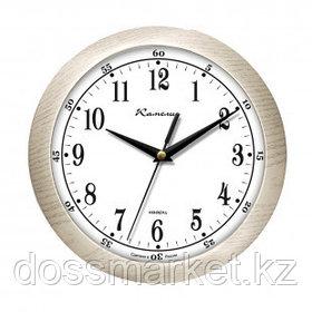 """Часы круглые Камелия """"Дуб светлый"""", d=29 см, светло-коричневые, пластиковые"""