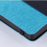 """Ежедневник недатированный Berlingo """"Color Zone"""", A5, 136 л., с резинкой, голубой, фото 3"""