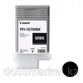 Тонер оригинальный Canon PFI-107MBK для imagePROGRAF-iPF670/680/685/770/780, матовый черный, 130 мл