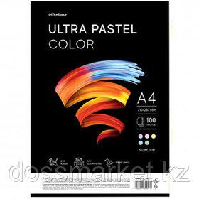 """Бумага OfficeSpace """"Ultra Pastel Color"""", А4, 80 г/м2, 100 листов, 5 пастельных цветов"""