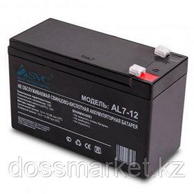 Аккумуляторная батарея SVC AL7-12, 12В, 7 Ач, размер 95*151*65 мм, черная (слаботочка)