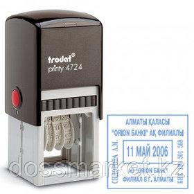 Датер со свободным полем Trodat 4724, высота шрифта 3 мм, металл/пластик