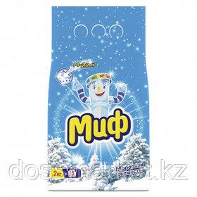 """Стиральный порошок Миф Автомат """"Морозная свежесть"""", 2 кг, мягкая упаковка"""