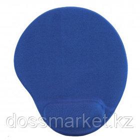 Коврик для мыши Defender EasyWork, синий, гелевая подушка, покрытие тканевое