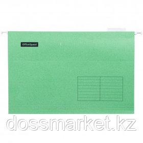"""Папка подвесная OfficeSpace """"Foolscap"""", А4+ формат, зеленая"""