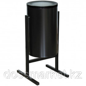 """Урна металлическая """"Титан"""", уличная, 330*405*720 мм, 25 л, черная"""