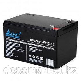 Аккумуляторная батарея SVC AV12 -12, 12В, 12 Ач, размер 98*150*95 мм, черная