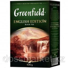 Чай Greenfield English Edition, черный, 100 гр, листовой