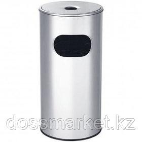 Урна металлическая с пепельницей OfficeClean Professional, 30 л, хром
