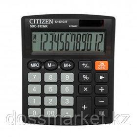 Калькулятор настольный Citizen SDC-812NR, 12 разрядов, 124*102*25 мм, черный