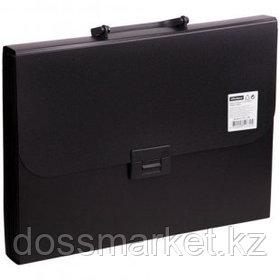Папка-портфель OfficeSpace, А4 формата, 13 отделений, черный