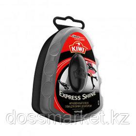 """Губка для обуви из гладкой кожи Kiwi """"Express Shine"""", с дозатором, черная"""