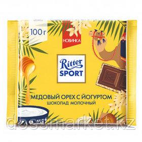 """Шоколад молочный Ritter SPORT """"Медовый орех с йогуртом"""" 100 гр"""