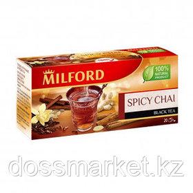 """Чай Milford """"Spicy"""" с пряностями, черный, 20 пакетиков"""