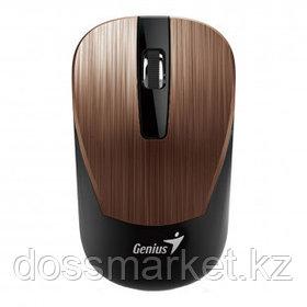 Мышь беспроводная Genius NX-7015, USB, 3 кнопки, 800-1600 dpi, оптическая, розово-коричневая