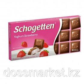 """Шоколад молочный Schogetten """"Клубничный йогурт"""",100 гр"""