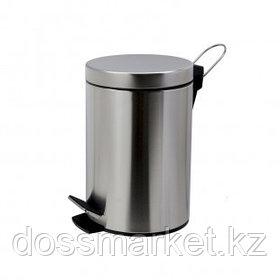 Ведро-контейнер для мусора Solinne, 5 л, нержавеющая сталь, хром
