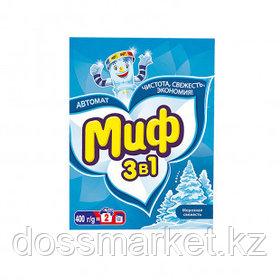 """Стиральный порошок Миф Автомат """"Морозная свежесть"""", 400 гр, картонная упаковка"""